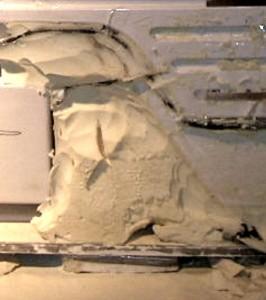 Escape Cruz Rehull - Urethane Foam Removal - in process